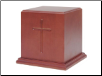 Cross Symbol Carving Pet Urn