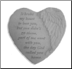 "Angel Winged Heart Memorial Stone - ""It Broke My Heart . . . ."""