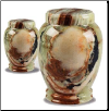 Plain Medium Green Onyx Marble Urn