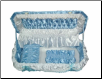 "48"" Soft Blue Pet Caskets"