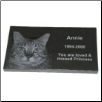 Etched Marble Photo Plaque
