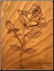 Serene Etched Rose Urn