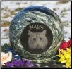 Pet Memorial Granite Sphere Urn
