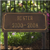 Slate Pet Memorial Plaque - Two Line