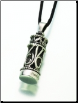 Antiqued Silver Cylinder or Silver Chromate Filigree Cylinder Keepsake Pendant
