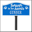 Forever in Our Hearts Personalized Pet Memorial Yard Sign
