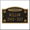 Angel in Heaven Pet Memorial Personalized Wall or Ground Plaque