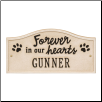 Forever in Our Hearts Personalized Pet Wall or Ground Memorial Plaque