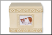 Celtic Cat Photo Keepsake Box or Urn