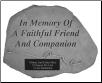 PERSONALIZED Garden Memorial - Faithful Companion
