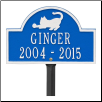 Pet Cat Mini Arch Memorial Marker - Lawn