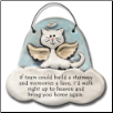 Cat in Heaven - If Tears Could Build a Stairway Ceramic Ornament for Cat Lover