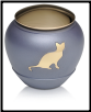 Brass Cat Urn