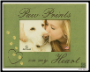 Paw Prints on my Heart Photo Frame