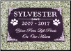 "Standard Granite Plaque - Personalized 7""x10"""