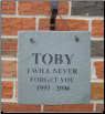 Engraved Slate Square Memorial