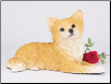 Chihuahua, Longhair, Fawn & White Dog Figurine Garden Pet Urn