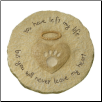 Paw Print Pet Memorial Stone or Plaque