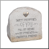 Pet Bereavement Stone and Garden Urn