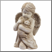 Angel Cherub with Cat Figurine