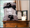 Paw Print Memorial Pet Blanket