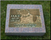 Photographic Bronze Rectangular Granite Marker