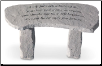 Garden Memorial Stone Bench - 'A Gift for Such . . . . . .'