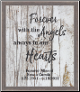 Forever With The Angels - Lighted & Personalized Pet Memorial