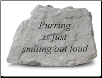Garden Accent Rock with Quote - 'Purring . . . . . . .'