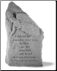 Garden Memorial Stone Totem with Poem