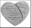 "Angel Winged Heart Memorial Stone - ""Although It's Difficult . . . ."""