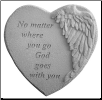 "Angel Winged Heart Memorial Stone - ""No Matter Where You Go . . . . ."""