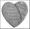 "Angel Winged Heart Memorial Stone - ""When I Count My Blessings . . . . ."""