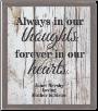 Always In Our Thoughts - Lighted & Personalized Pet Memorial