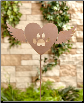 Winged Heart Cat Memorial Garden Stake