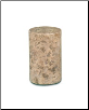 Cylinder Fossil Marble Pet Urn