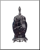 Marble & Pewter Black Zebra Pet Urn