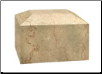 Rectangular Botticino Marble Urn