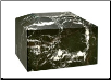 Rectangular Black Zebra Marble Urn