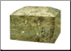 Rectangular Green Marble Urn