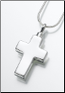 Large Gold Vermeil or Sterling Silver Cross Keepsake Pendant