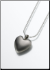 White Bronze or Bronze Heart Keepsake Pendant
