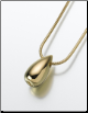 Gold Vermeil, Sterling Silver, 14K White or 14K Yellow Gold Teardrop Slide Keepsake Pendant