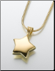 Gold Vermeil, Sterling Silver, 14K White or 14K Yellow Gold Star Keepsake Pendant