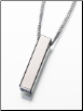 Titanium Long Narrow Rectangle Slide Keepsake Pendant