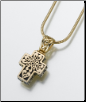 Gold Vermeil, Sterling Silver, 14K White or 14K Yellow Gold Filigree Cross Keepsake Pendant