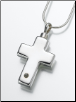 Sterling Silver Cross Micro Picture Lens Heart Keepsake Pendant