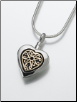 Sterling Silver, 14K White or 14K Yellow Gold Heart Pendant Keepsake Pendant