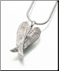 Sterling Silver, Antique SS, Gold Vermeil, 14K White or Yellow Gold Angel Wings Keepsake Pendant