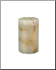 Cylinder Light Green Onyx Marble Pet Urn